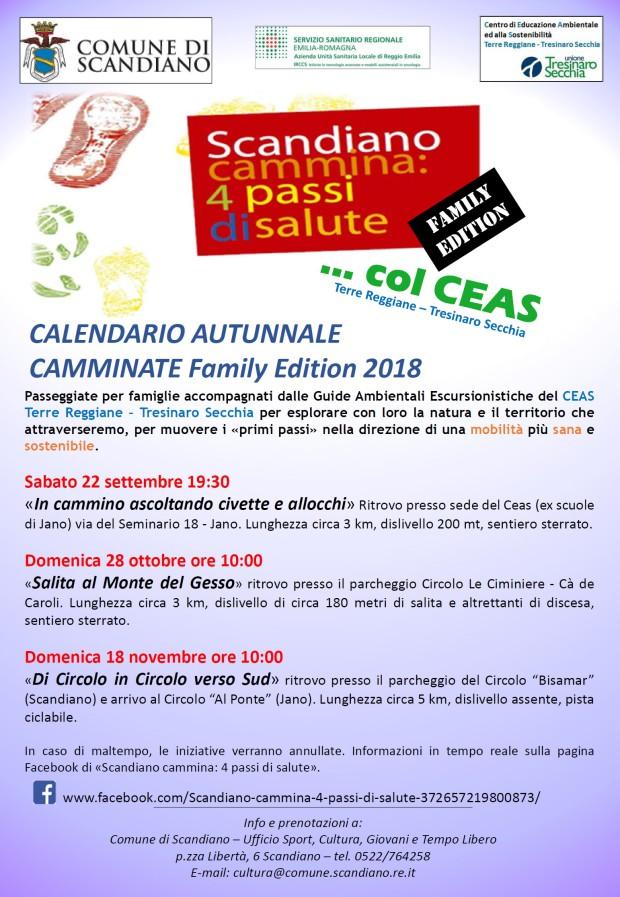 SCANDIANO CAMMINA col CEAS_settembre-novembre2018