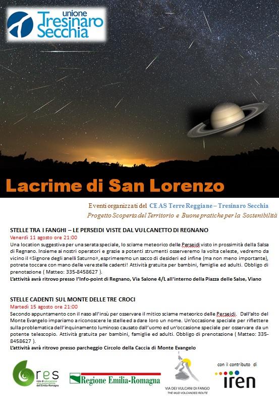 Volantino Lacrime di San Lorenzo