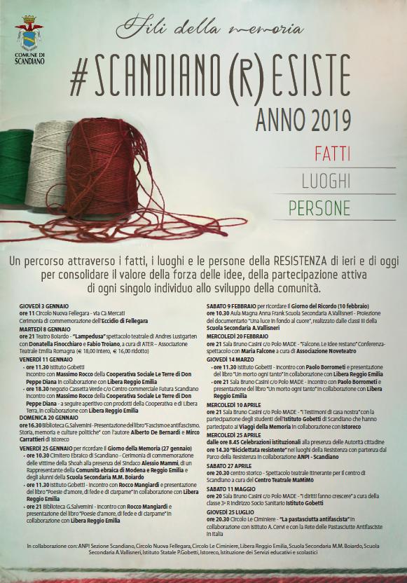 locandina Scandiano Resiste 2019